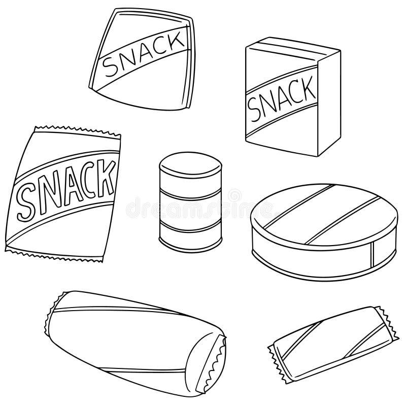Sistema del vector de bocado libre illustration