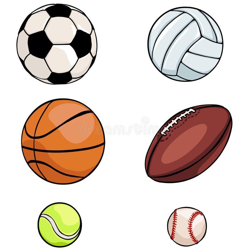 Sistema Del Vector De Bolas De Los Deportes: Fútbol, Voleibol ...