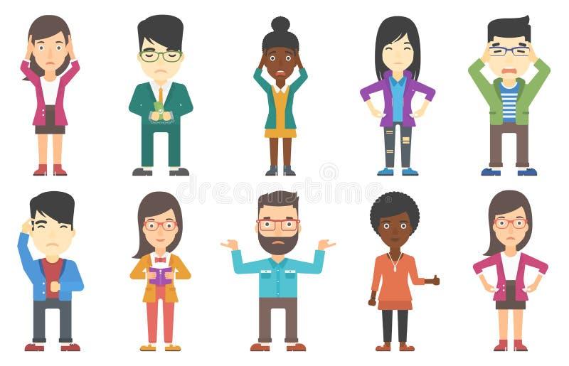 Sistema del vector de caracteres del negocio stock de ilustración