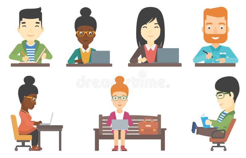 Sistema del vector de caracteres del negocio libre illustration
