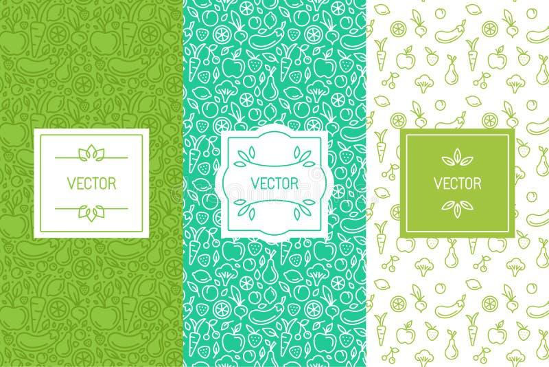 Sistema del vector de elementos del diseño, de modelos inconsútiles y de fondos libre illustration