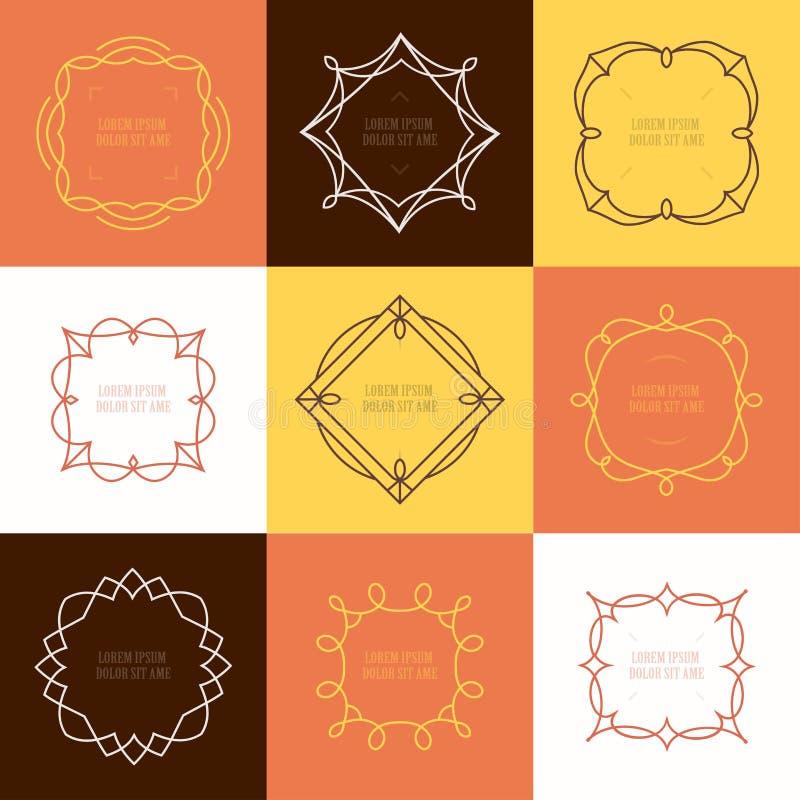 Sistema del vector de emblemas y de insignias del esquema Modelos abstractos libre illustration
