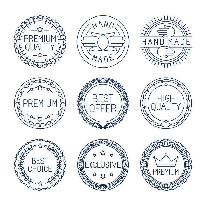 Sistema del vector de etiquetas superiores stock de ilustración