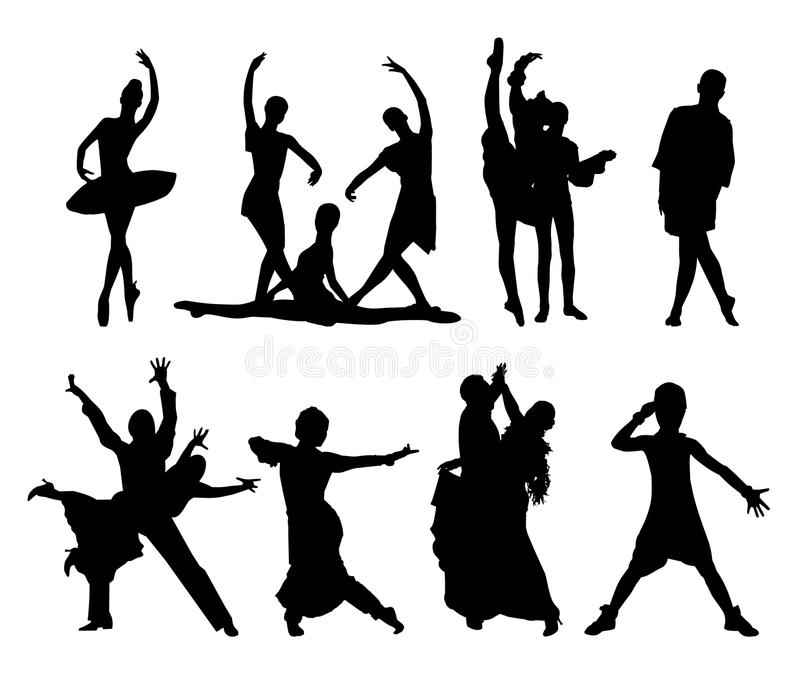 Sistema del vector de gente del baile libre illustration