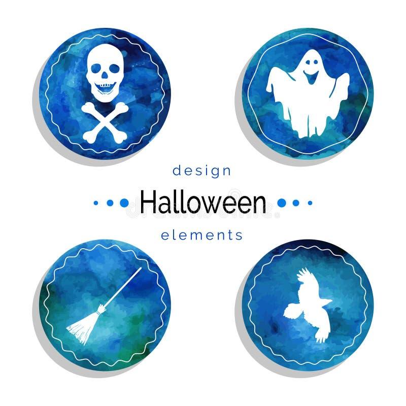 Sistema del vector de Halloween stock de ilustración