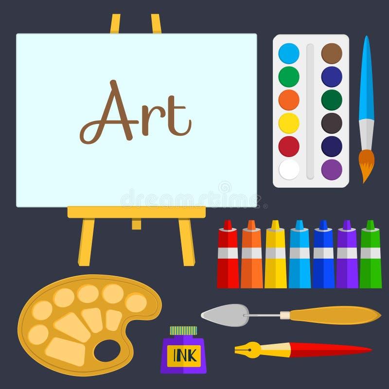 Sistema del vector de herramientas y de materiales para - Materiales para pintar ...