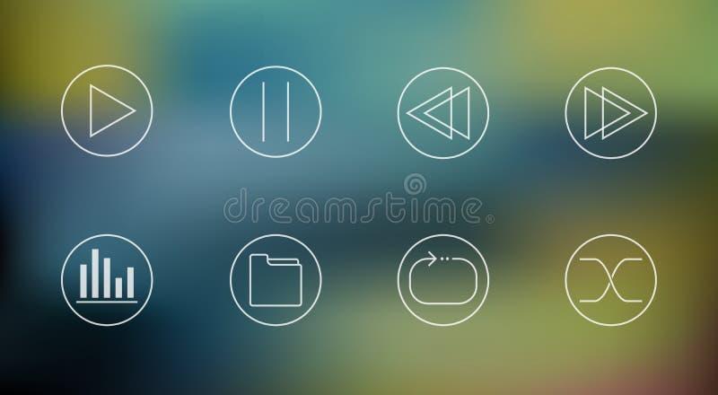 Sistema del vector de iconos del jugador de música libre illustration
