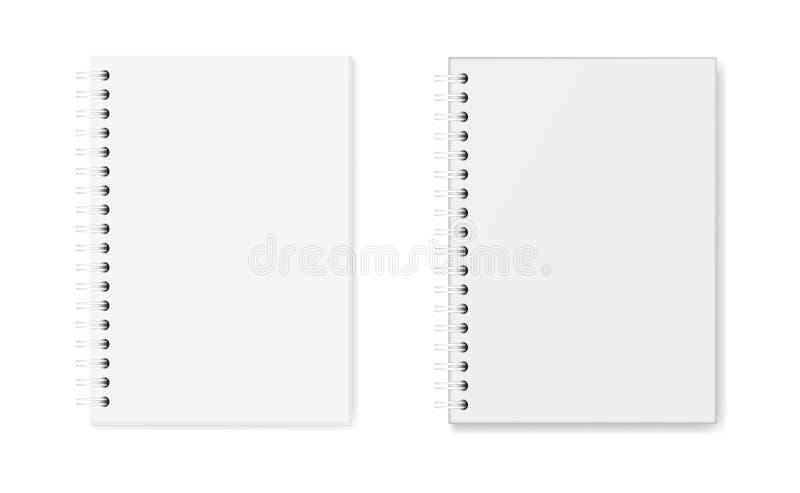 Sistema del vector de imágenes realistas de cuadernos: hardcover y cubierta suave stock de ilustración