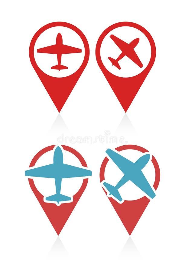 Sistema del vector de indicadores con el aeroplano libre illustration