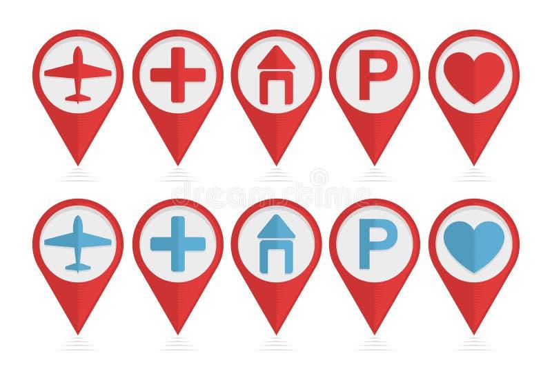 Sistema del vector de indicadores con los iconos libre illustration
