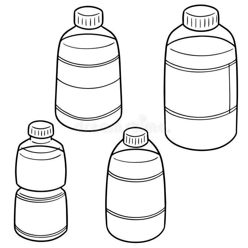 Sistema del vector de la botella de agua libre illustration