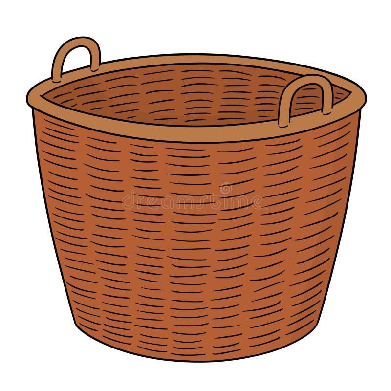 Sistema del vector de la cesta de mimbre libre illustration