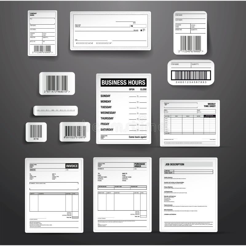 Sistema del vector de la plantilla del negocio libre illustration