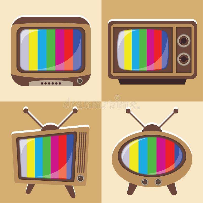 Sistema del vector de la televisión clásica 1 ilustración del vector