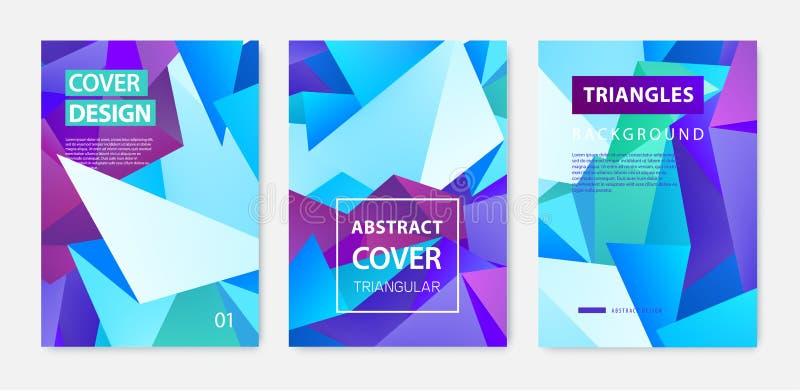 Sistema del vector de las cubiertas geom?tricas abstractas, banderas, carteles, aviadores, folletos Superficie del marco de texto libre illustration