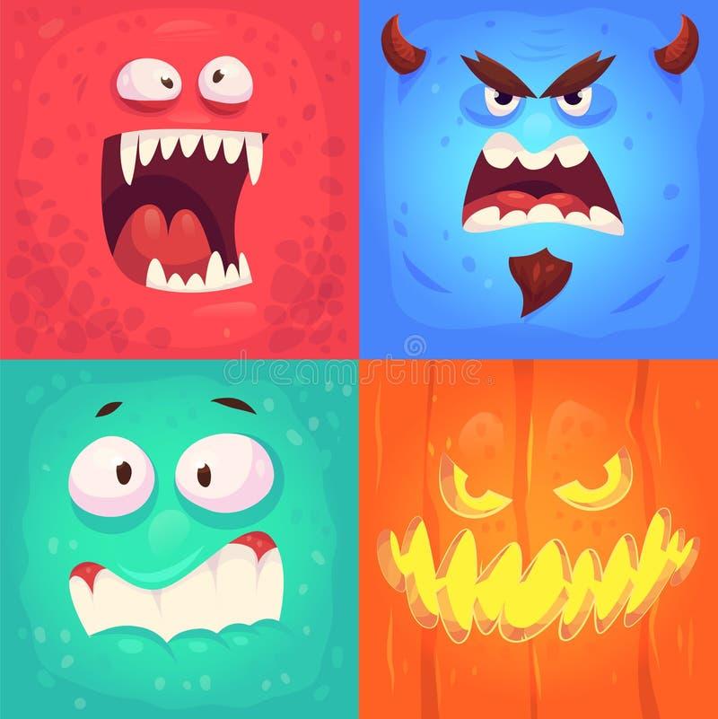 Sistema del vector de las insignias de Halloween stock de ilustración