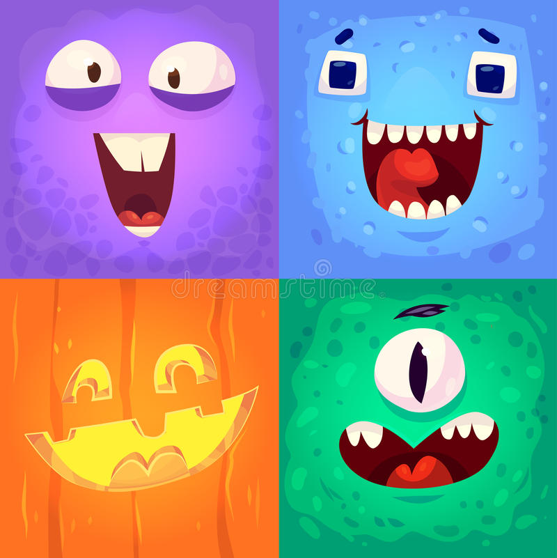 Sistema del vector de las insignias de Halloween libre illustration