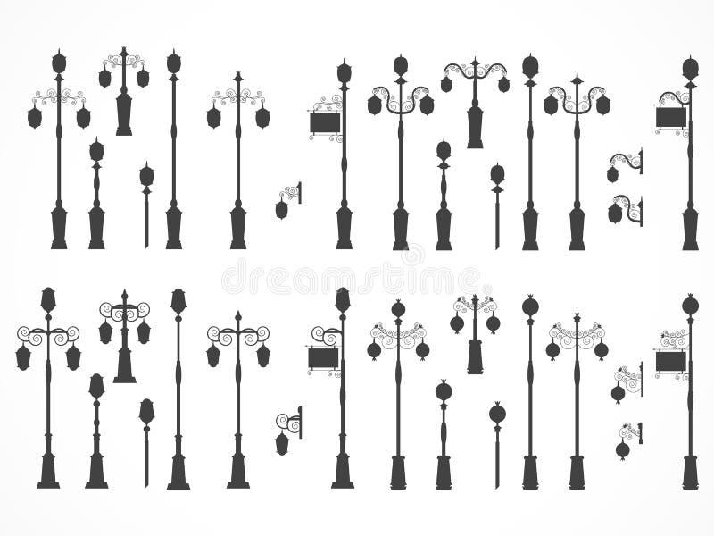 Sistema del vector de luces de calle libre illustration