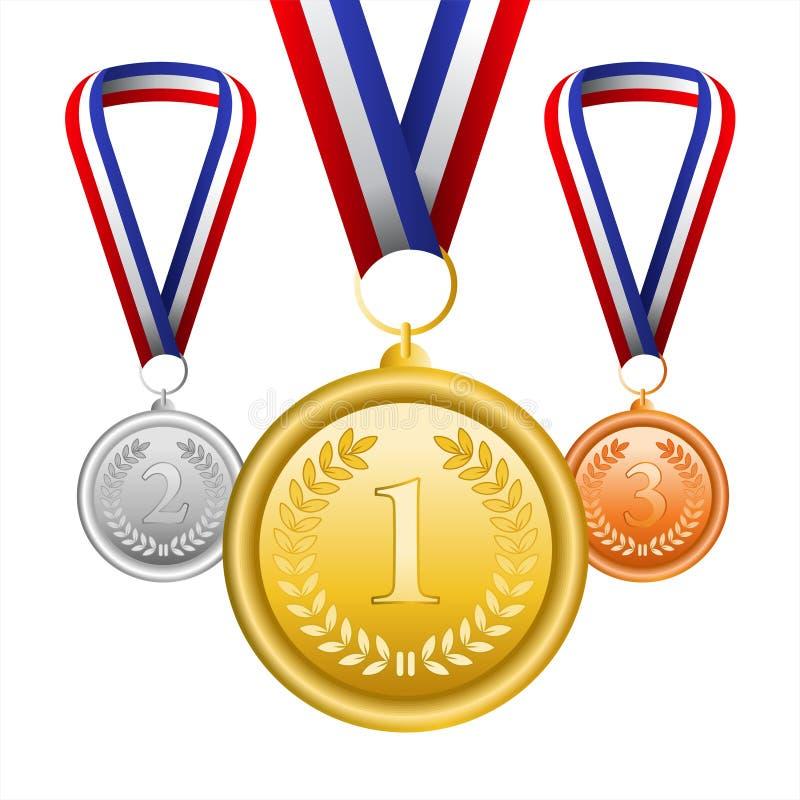 Download Sistema Del Vector De Medallas Stock de ilustración - Ilustración de número, cinta: 42432625