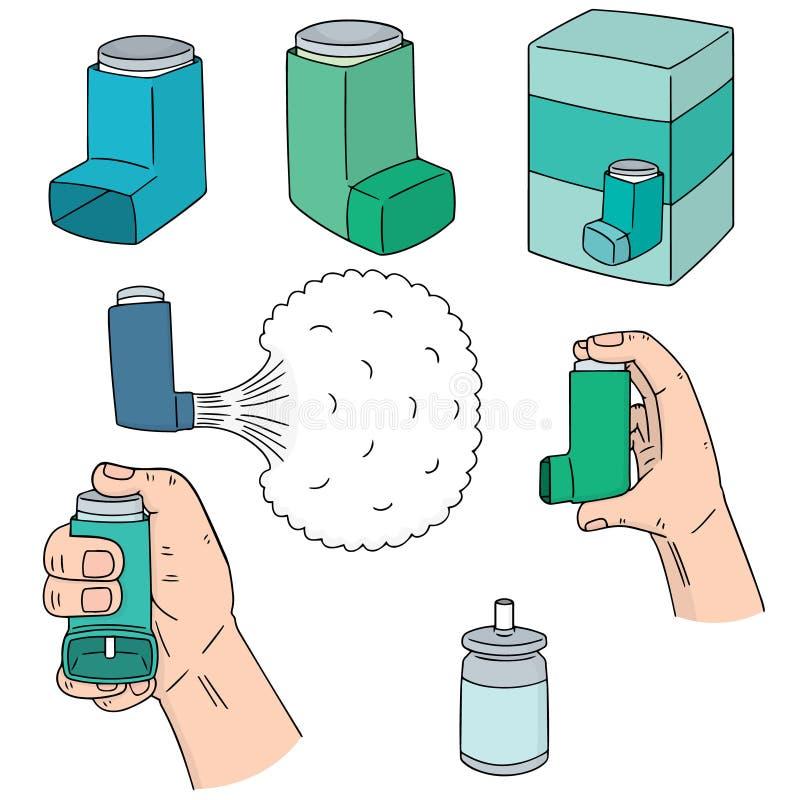 Sistema del vector de medicina de la inhalación ilustración del vector