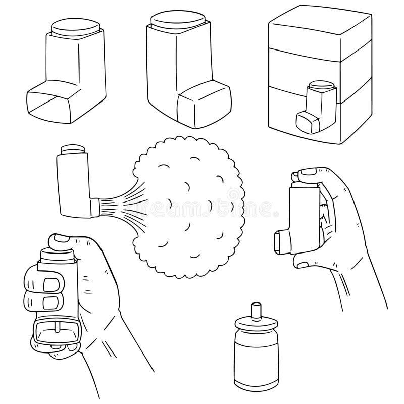 Sistema del vector de medicina de la inhalación libre illustration