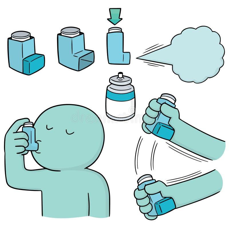 Sistema del vector de medicinas de la inhalación stock de ilustración