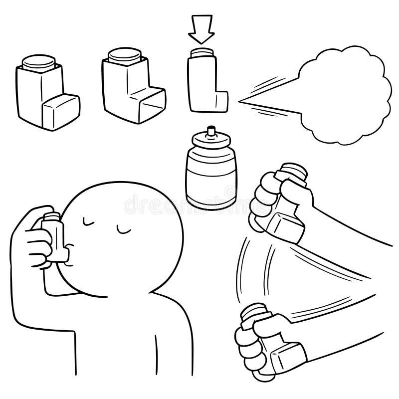 Sistema del vector de medicinas de la inhalación libre illustration