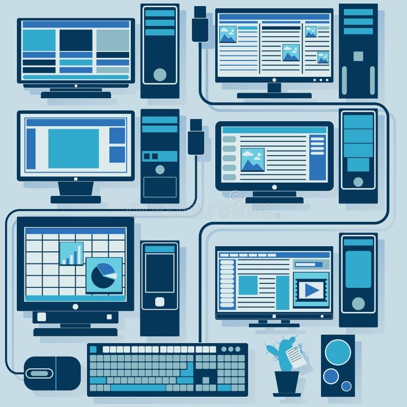 Sistema del vector de ordenadores libre illustration