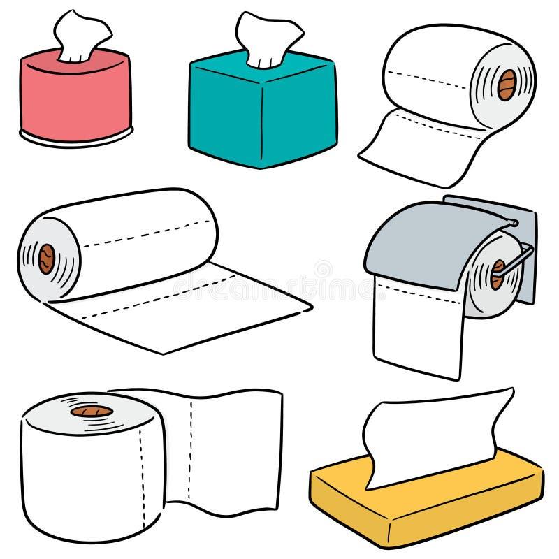 Sistema del vector de papeles seda ilustración del vector