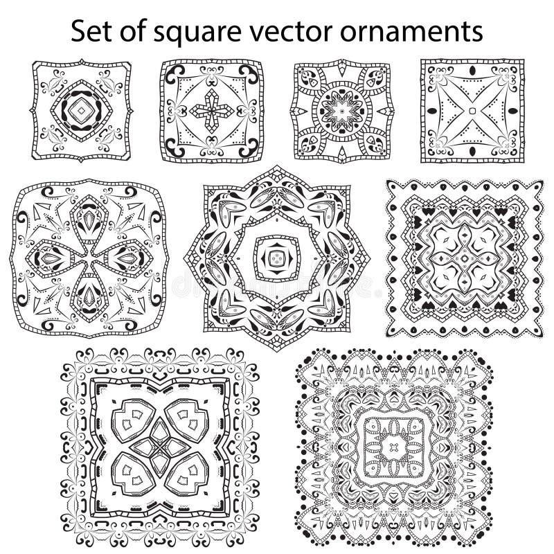 Sistema del vector de símbolos ilustración del vector