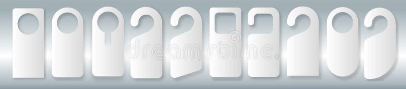 Sistema del vector de suspensiones de puerta únicas con la línea estilo de moda aisladas en el fondo blanco Maqueta de la suspens libre illustration