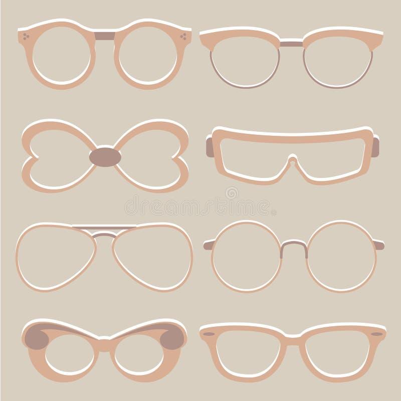 Sistema del vector de vidrios lindos del ojo libre illustration