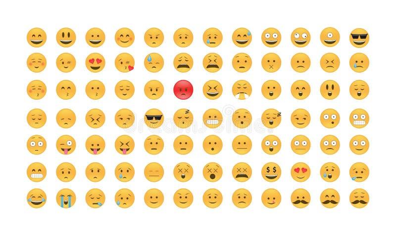 Sistema del vector del emoticon libre illustration