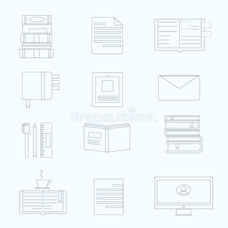Sistema del vector del icono de la productividad ilustración del vector