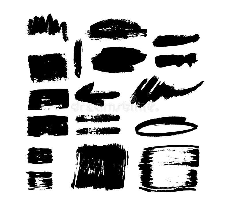 Sistema del vector del movimiento del cepillo stock de ilustración