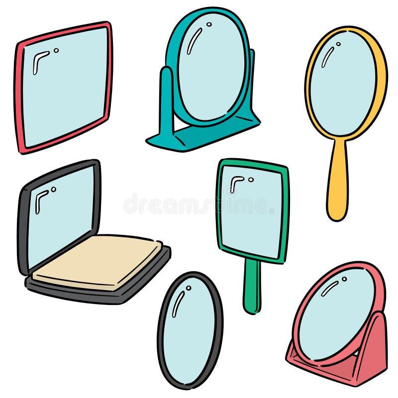 Sistema del vector del espejo stock de ilustración