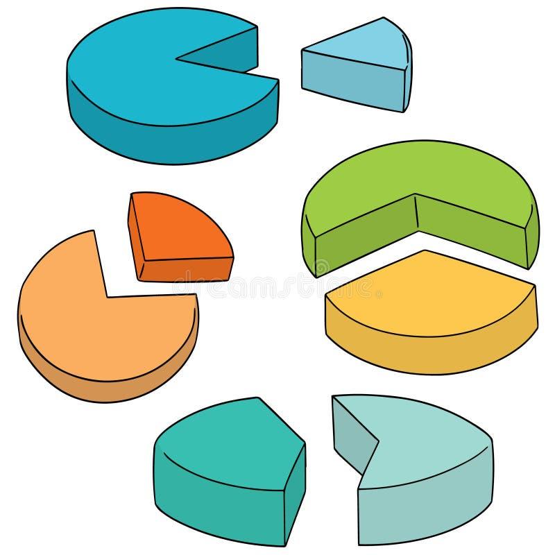 Sistema del vector del gráfico de sectores libre illustration