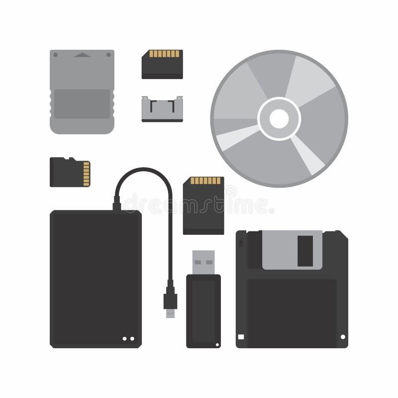 Sistema del vector del icono del almacenamiento de datos libre illustration