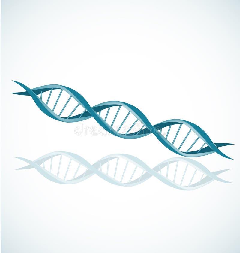 Sistema del vector del icono del espiral del doble hélice del filamento de la DNA stock de ilustración