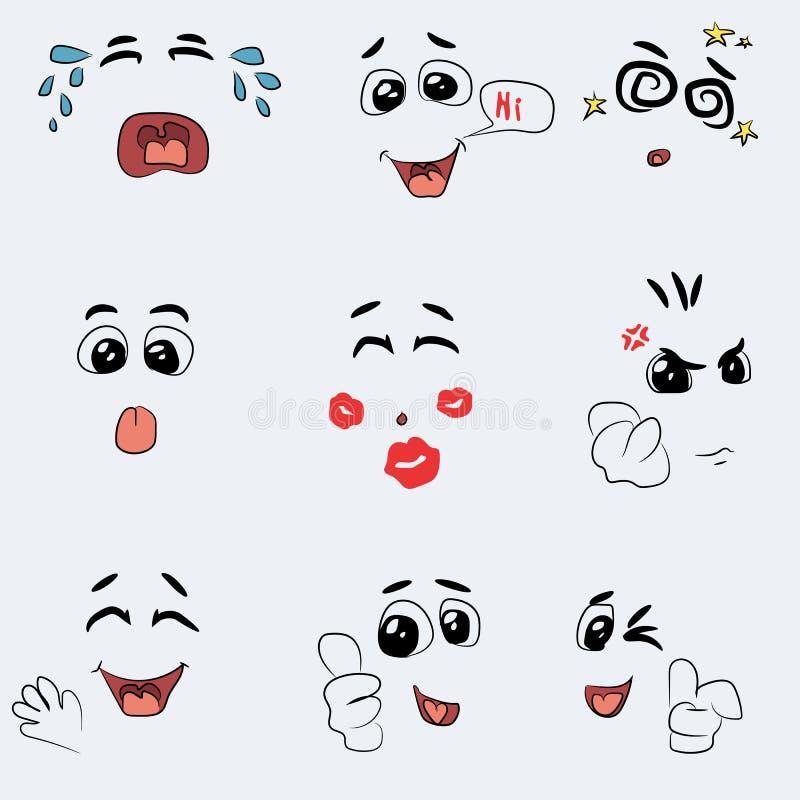Sistema del vector lindo de la emoción libre illustration