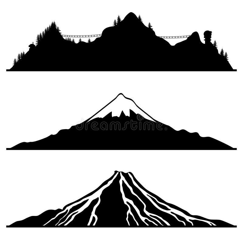 Sistema del vector Montaña ilustración del vector