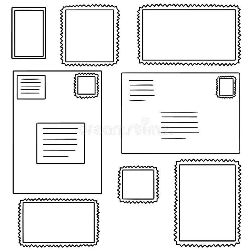 Sistema del vector del sello ilustración del vector