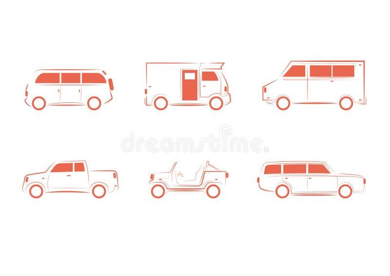 Sistema del vehículo, del transporte, del camión y del carro imagen de archivo libre de regalías