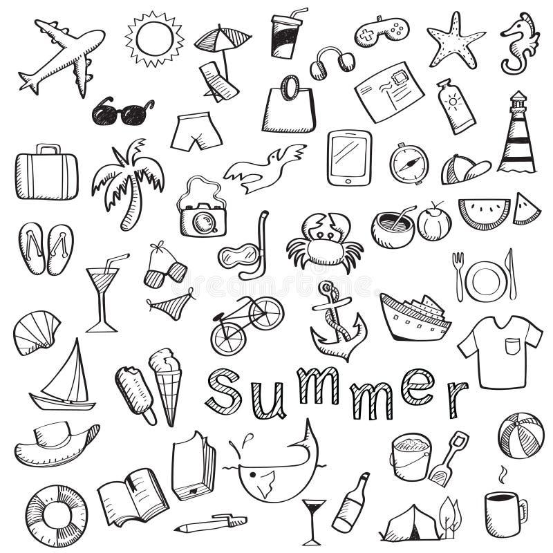 Sistema del verano stock de ilustración