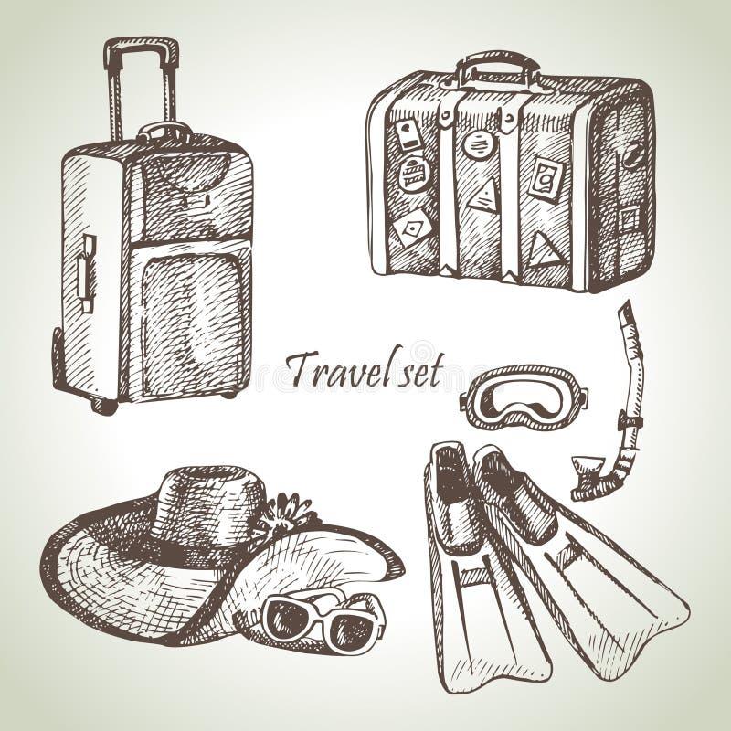Sistema del viaje ilustración del vector