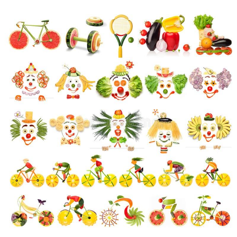 Sistema delicioso stock de ilustración
