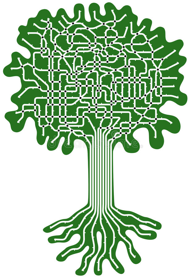 Sistema dell'albero royalty illustrazione gratis