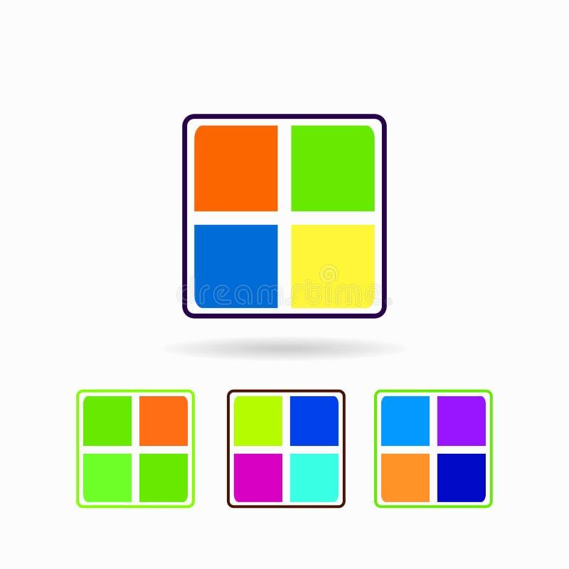 Sistema dell'icona Isolato su priorità bassa bianca illustrazione di stock