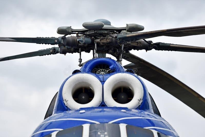 Sistema della fusoliera e del rotore dell'elicottero immagine stock