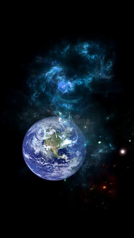 Sistema della galassia A di milioni o di miliardi di stelle, insieme a gas ed a polvere, tenuti insieme dall'attrazione gravitazi fotografia stock